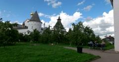 Rostov Kremlin. The Golden ring of Russia. Rostov Veliky Stock Footage