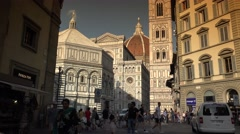 Cathedral of Santa Maria del Fiore in Florence, Italy. ULTRA HD 4K, real time Stock Footage