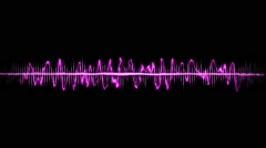 Spectacular sound waves with different ranges Stock Footage