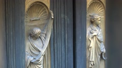 Gates of Paradise, Golden door panels of Duomo Baptistry, Florence, ULTRA HD 4K, Stock Footage