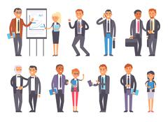 Business people vector set Piirros