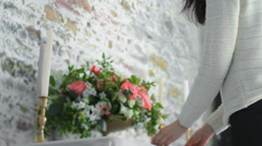 Bouquet on a Decorated Table Fine Art Stock Footage