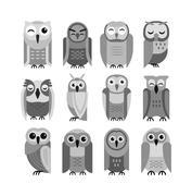 Cartoon owl vector Stock Illustration