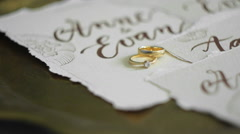 Wedding Rings on a Tray Stock Footage