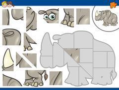 Jigsaw puzzle game Stock Illustration