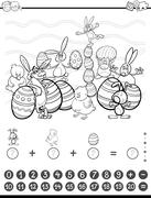 Maths task coloring book Piirros