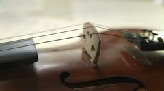 Violin. Focus change. Space for title or text. Good for website or presentation Stock Footage