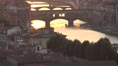 ULTRA HD 4K, Amazing Sunset view of Florence, Italy, Europe Stock Footage