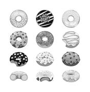 Donuts vector set Piirros