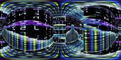 Virtual reality video through a maze of data - 360 VR Digital Graffiti 1005 Stock Footage