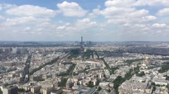 City of Paris Aerial Shot Small Zoom To Eiffel Tower, France Stock Footage