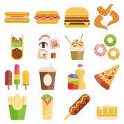 Fast food vector set Piirros