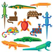 Reptiles vector set Stock Illustration