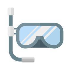 Snorkeling diver mask vector illustration - stock illustration