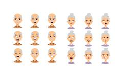 People faces vector set Stock Illustration