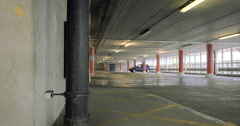Multi-storey Car Park: tracking video to reveal an empty parking facility Stock Footage