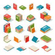Books isolated vector illustration Stock Illustration