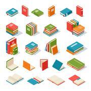 Books isolated vector illustration - stock illustration