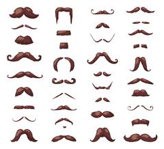 Huge set of vector mustache Stock Illustration