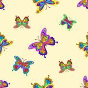 Background, butterflies Stock Illustration