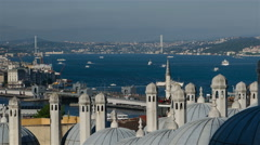 Istanbul. Sea traffic in Bosphorus strait Stock Footage