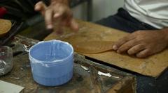 Making Shoes By Hand, El Yapımı Ayakkabı Üretimi Stock Footage