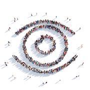 Eye vision people 3D rendering Stock Illustration