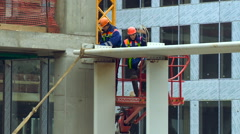 Safety Measures For Construction Site Workers Stock Footage