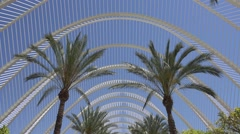 The City of Arts and Sciences in Valencia in Spain Stock Footage