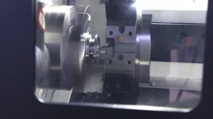 CNC milling machine makes some steel part on factory Stock Footage