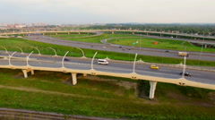 Aerial view of Highway Junction Stock Footage