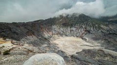 Crater lake of Tangkuban Perahu, Bandung, West Java, Indonesia. 4K Timelapse - Stock Footage