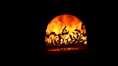 Wood oven - stock footage
