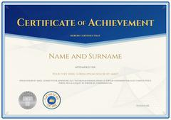 Certificate of achievement template in vector for achievement graduation comp Stock Illustration