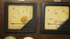 Old gauges isolated Stock Footage
