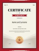 Portrait certificate of achievement template in vector format Stock Illustration