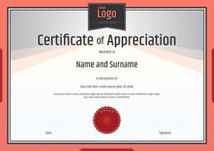 Certificate of appreciation template Stock Illustration