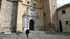 Tourist at Monastery Granada Stock Footage