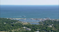 Oak Bluffs Harbour Stock Footage