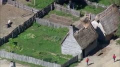 Plimoth Plantation Buildings Stock Footage