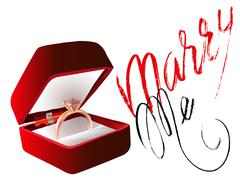 Marry me ring sign icon. Engagement symbol. Marry me lettering. EPS10 Stock Illustration