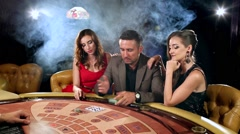Man Loses Money in the Casino Stock Footage
