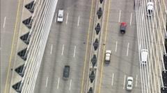 Zakim Bunker Hill Bridge Stock Footage