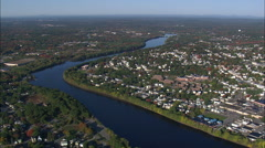 Merrimack River Near Lawrence Stock Footage