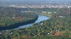 Merrimack River Near Lawrence Stock Footage
