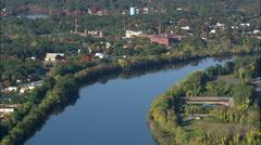 Merrimack River Near Lowell - stock footage