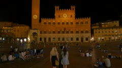 Timelapse Piazza del Campo Night 4K.MP4 Stock Footage