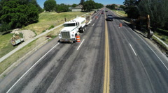 Aerial-Construction State road 132 restoration project Stock Footage