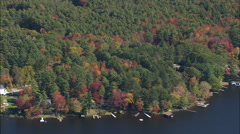Houses Around Otis Reservoir Stock Footage