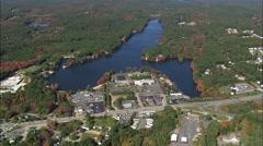 Sturbridge aerial Stock Footage